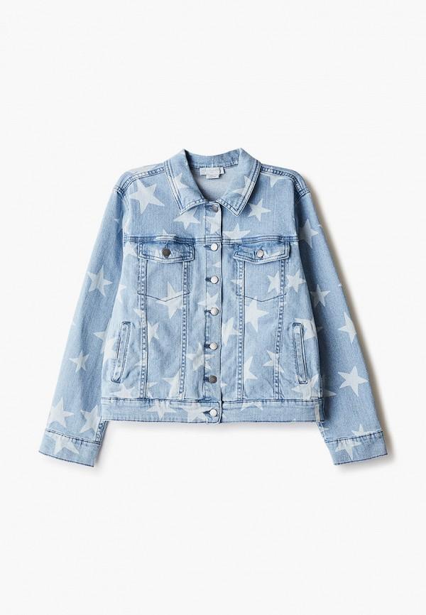 куртка stella mccartney для девочки, голубая