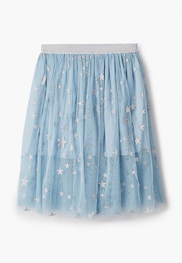 юбка stella mccartney для девочки, голубая