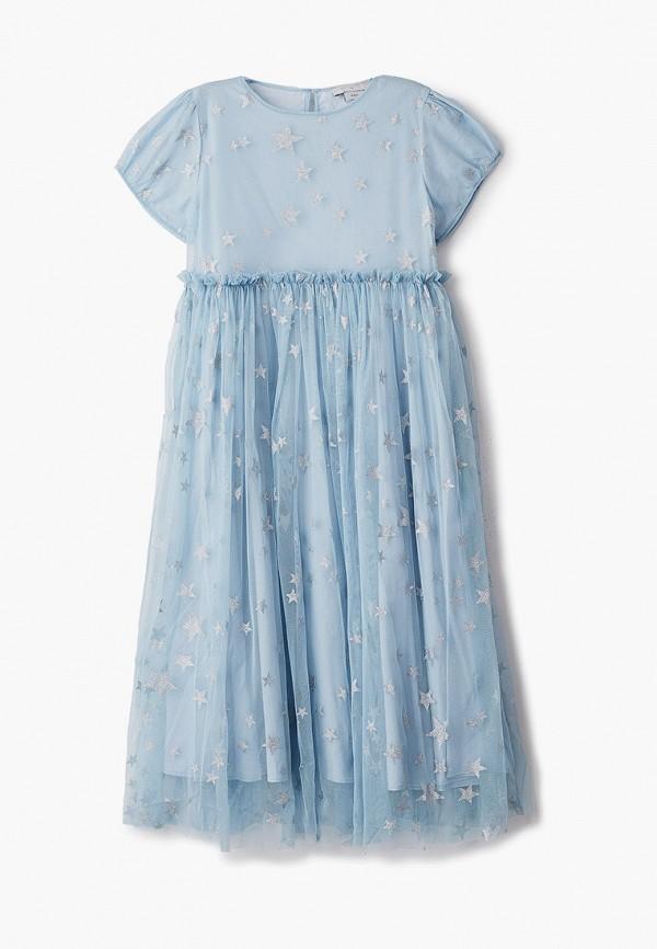 нарядные платье stella mccartney для девочки, голубое