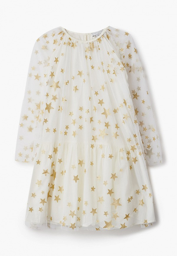 платье stella mccartney для девочки, бежевое