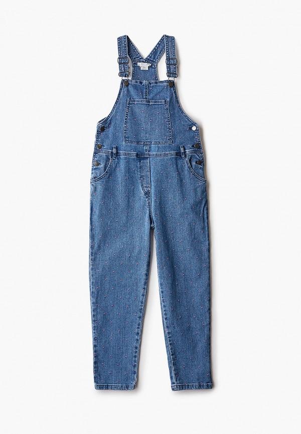 джинсовые комбинезон stella mccartney для девочки, синий