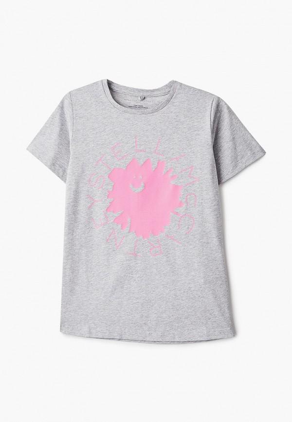 футболка с коротким рукавом stella mccartney для девочки, серая