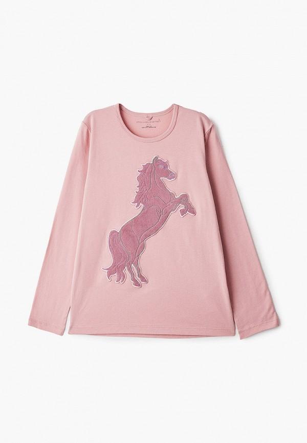 лонгслив stella mccartney для девочки, розовый