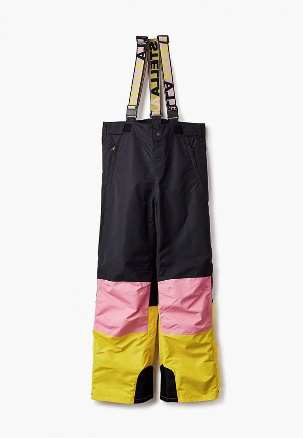 сноубордические брюки stella mccartney для девочки, черные