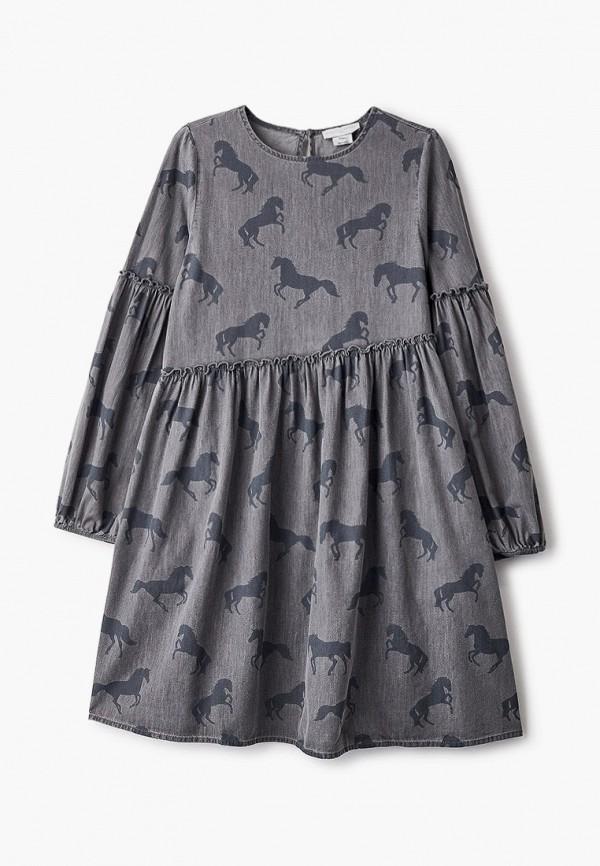 повседневные платье stella mccartney для девочки, серое