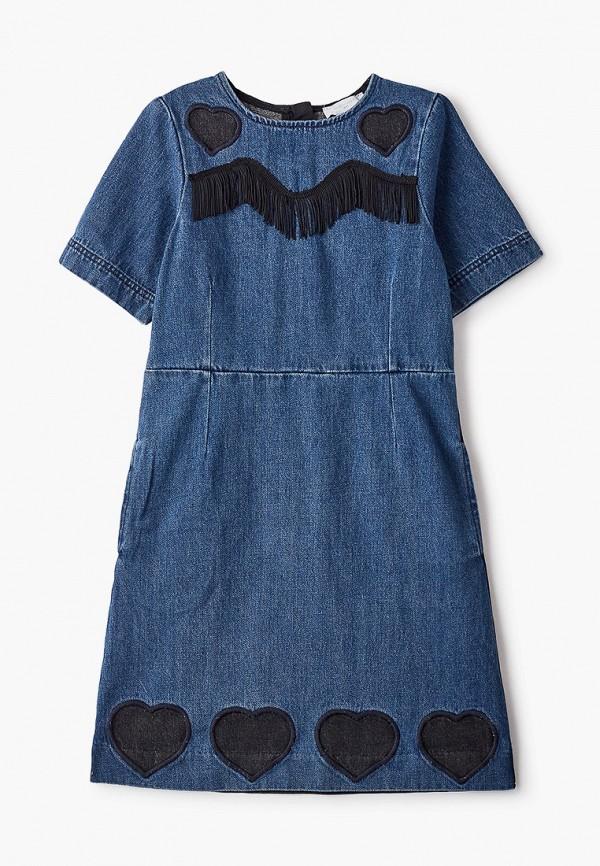 джинсовые платье stella mccartney для девочки, синее