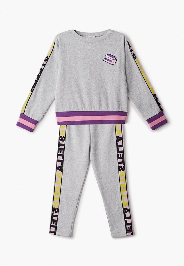 спортивный костюм stella mccartney для девочки, серый