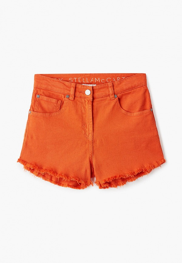 шорты stella mccartney для девочки, оранжевые