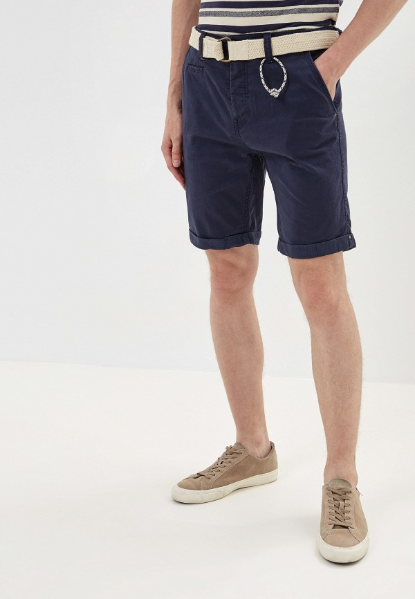 мужские повседневные шорты stitch & soul, синие