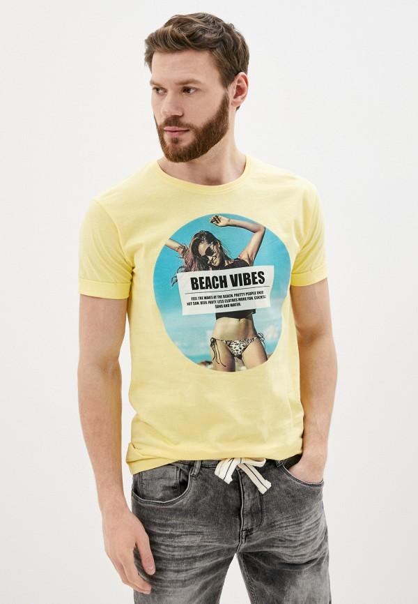мужская футболка с коротким рукавом stitch & soul, желтая