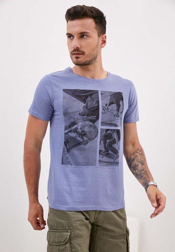мужская футболка с коротким рукавом stitch & soul, голубая