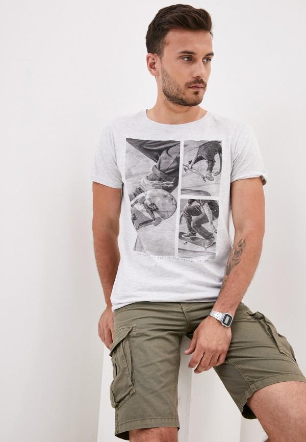 мужская футболка с коротким рукавом stitch & soul, серая