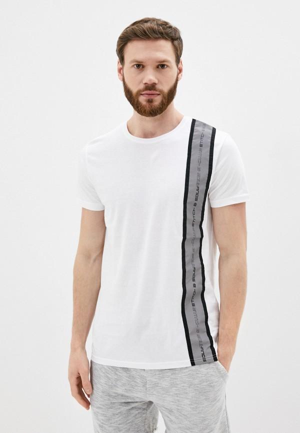 мужская футболка с коротким рукавом stitch & soul, белая