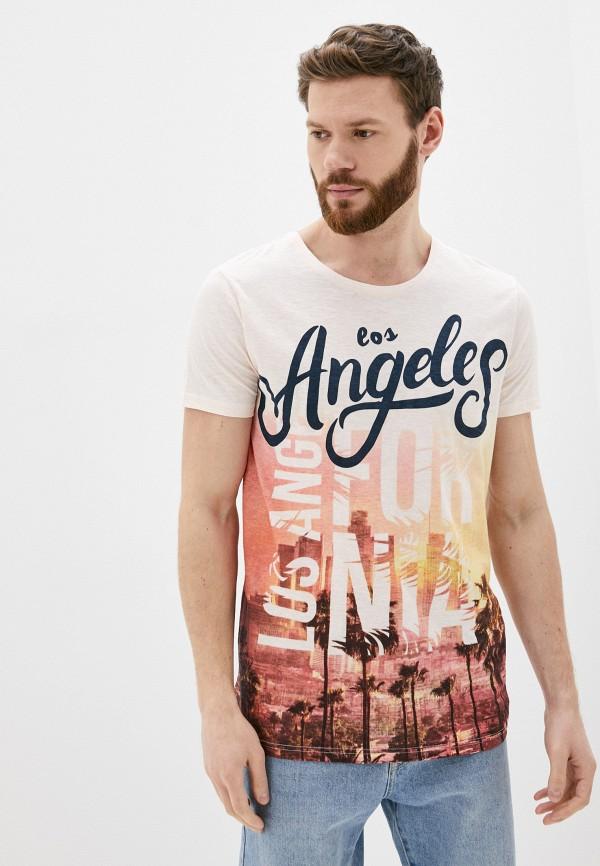 мужская футболка с коротким рукавом stitch & soul, розовая