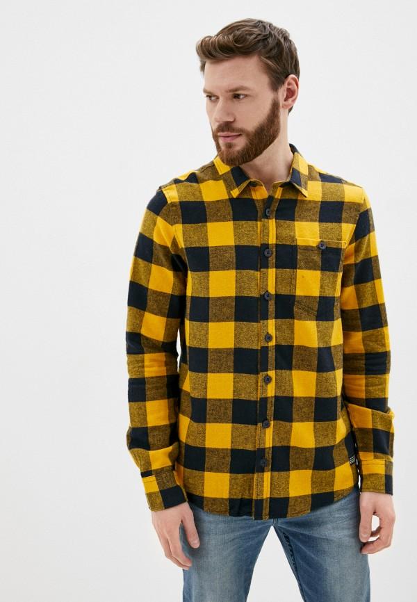 мужская рубашка с длинным рукавом stitch & soul, желтая