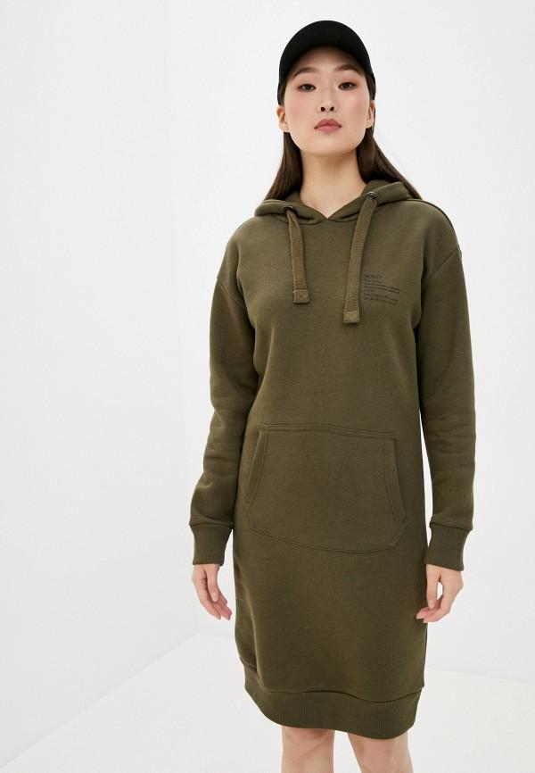 женское платье stitch & soul, хаки
