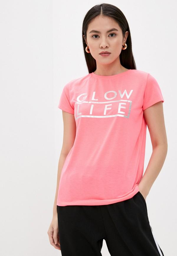 женская футболка stitch & soul, розовая