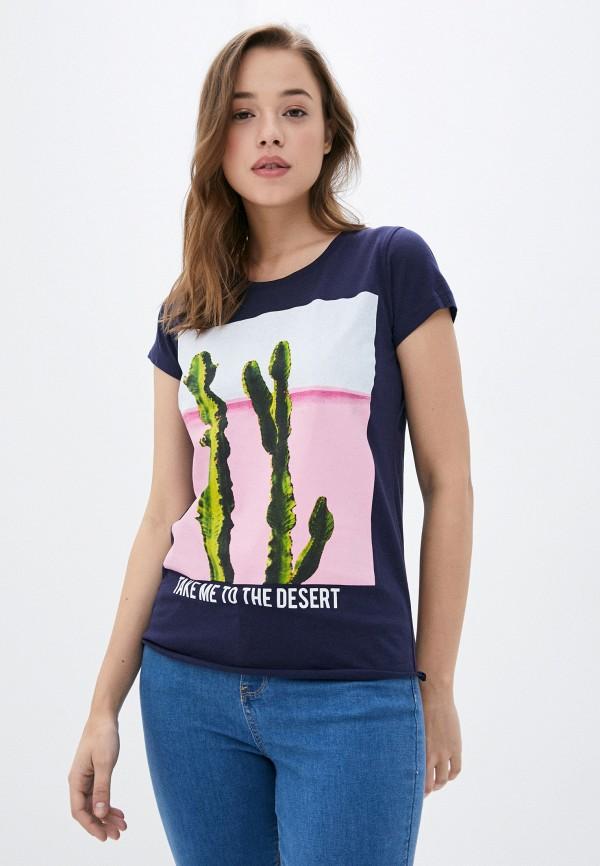 женская футболка stitch & soul, синяя