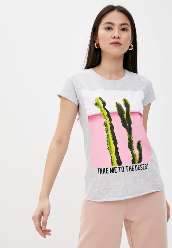 женская футболка stitch & soul, серая