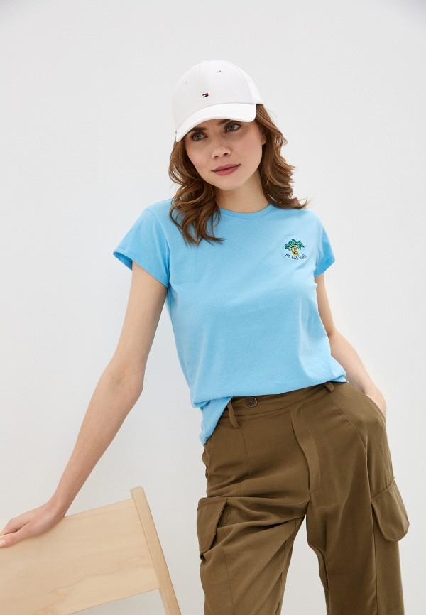 женская футболка stitch & soul, голубая