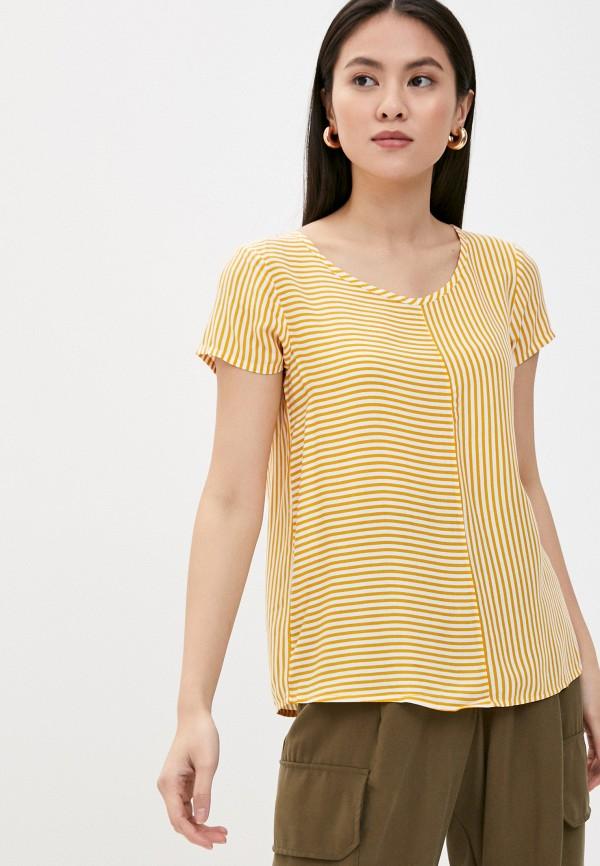 женская блузка stitch & soul, желтая