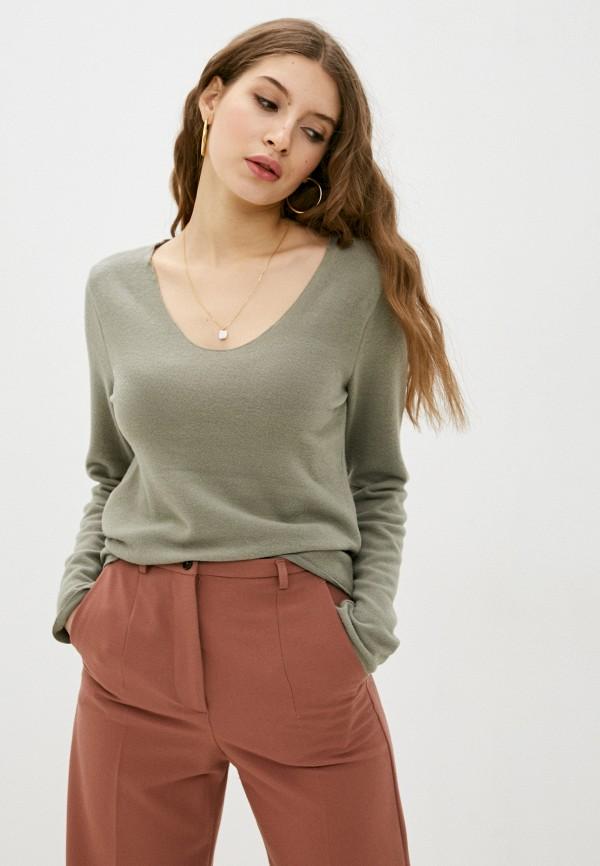 женский пуловер stitch & soul, хаки