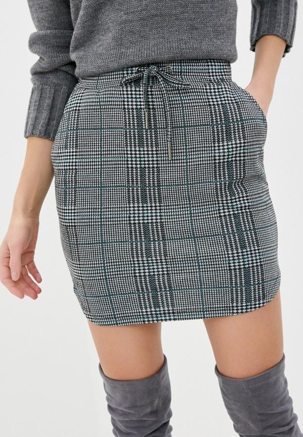 женская прямые юбка stitch & soul, серая