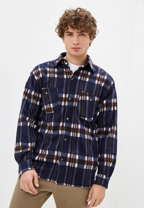 мужская рубашка с длинным рукавом stormy life, синяя
