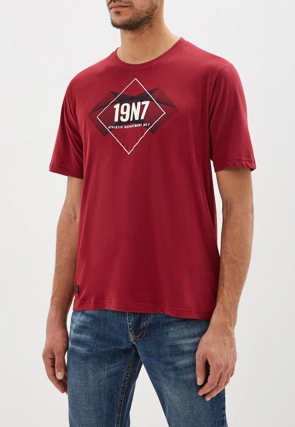 мужская футболка с коротким рукавом stooker, бордовая