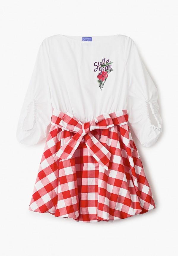 повседневные платье stella jean kids для девочки, белое