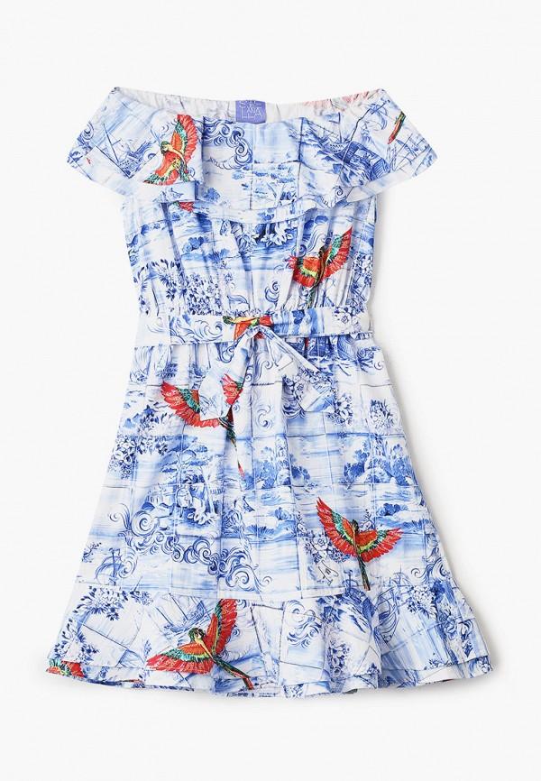 повседневные платье stella jean kids для девочки, голубое