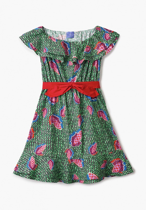 повседневные платье stella jean kids для девочки, зеленое