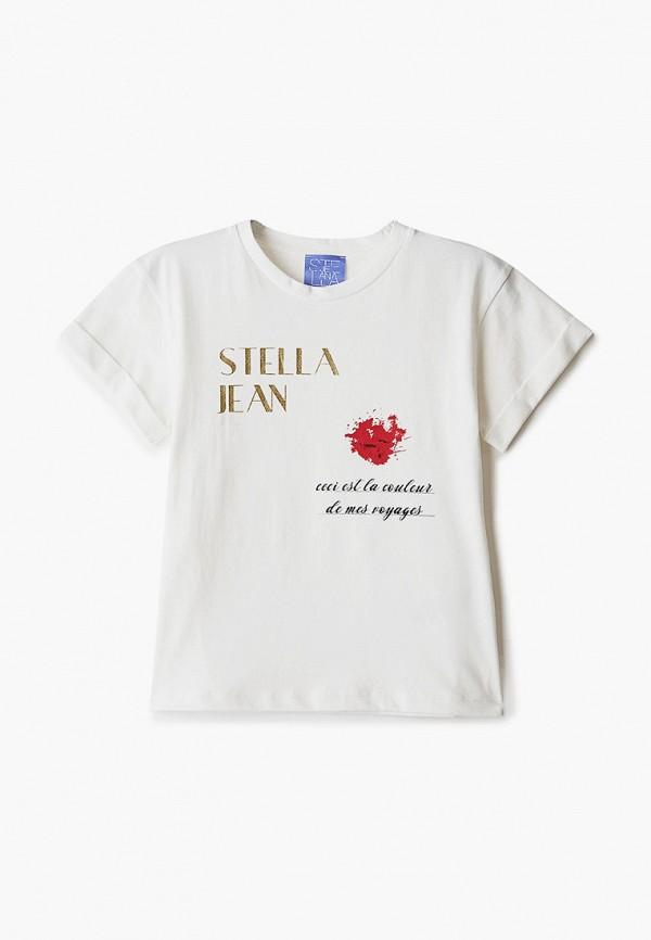 футболка с коротким рукавом stella jean kids для девочки, белая