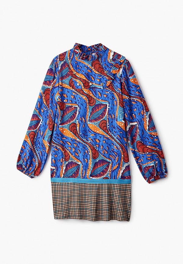 повседневные платье stella jean kids для девочки, синее