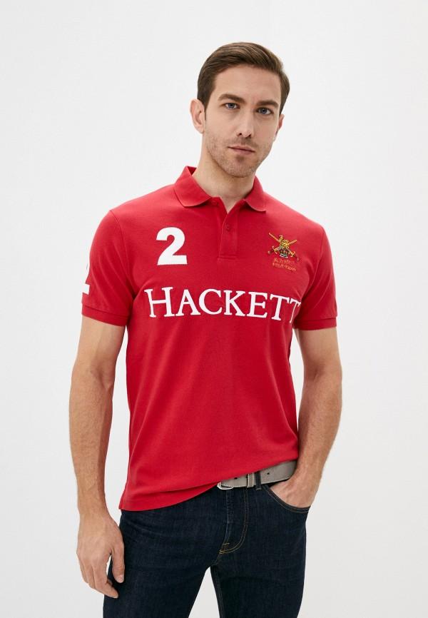 мужское поло hackett london, красное