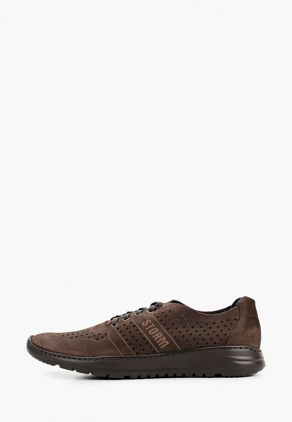 мужские кроссовки storm, коричневые