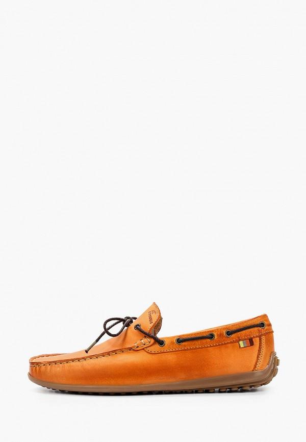 мужские мокасины storm, оранжевые
