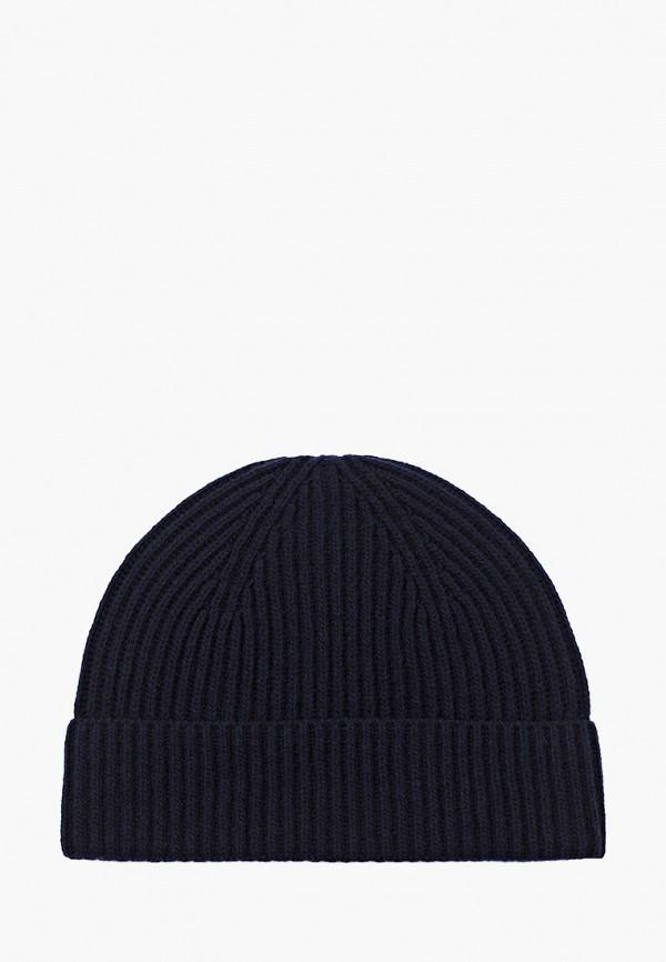 женская шапка stefanel, синяя
