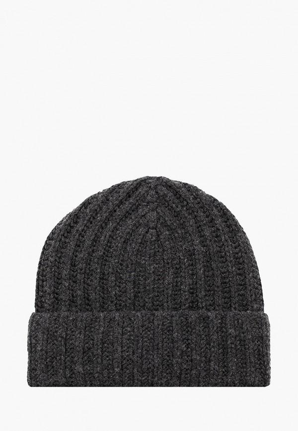 женская шапка stefanel, серая