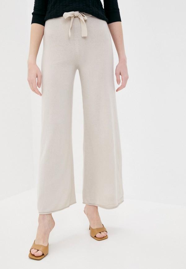 женские повседневные брюки stefanel, бежевые