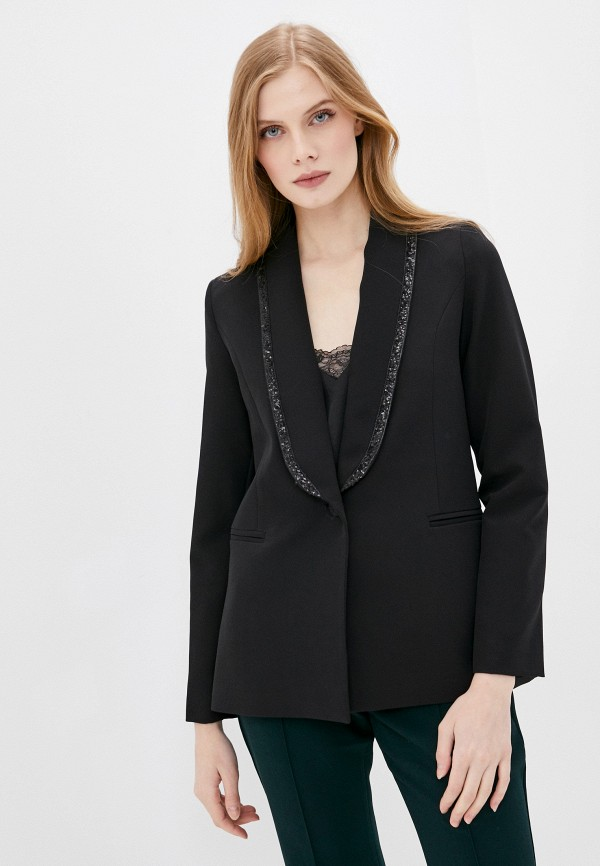 женский пиджак stefanel, черный