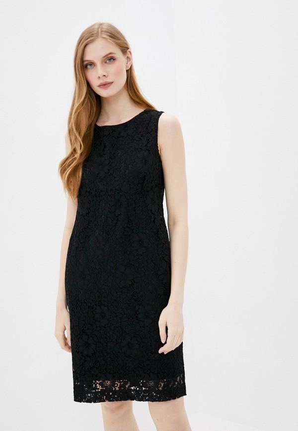 женское повседневные платье stefanel, черное