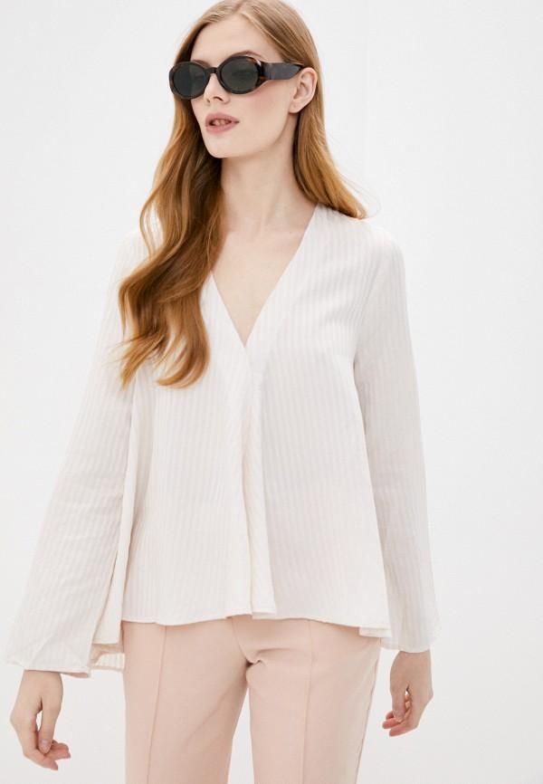 женская блузка stefanel, бежевая