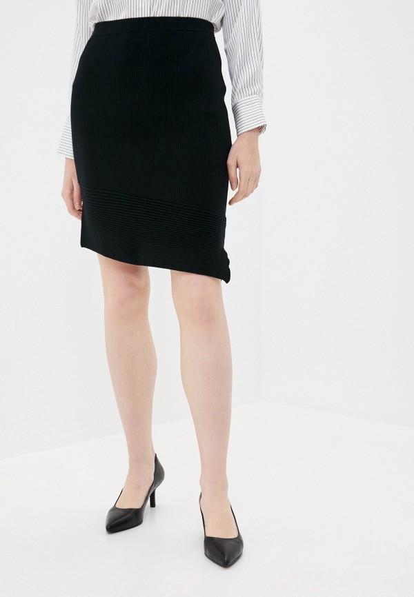 женская прямые юбка stefanel, черная