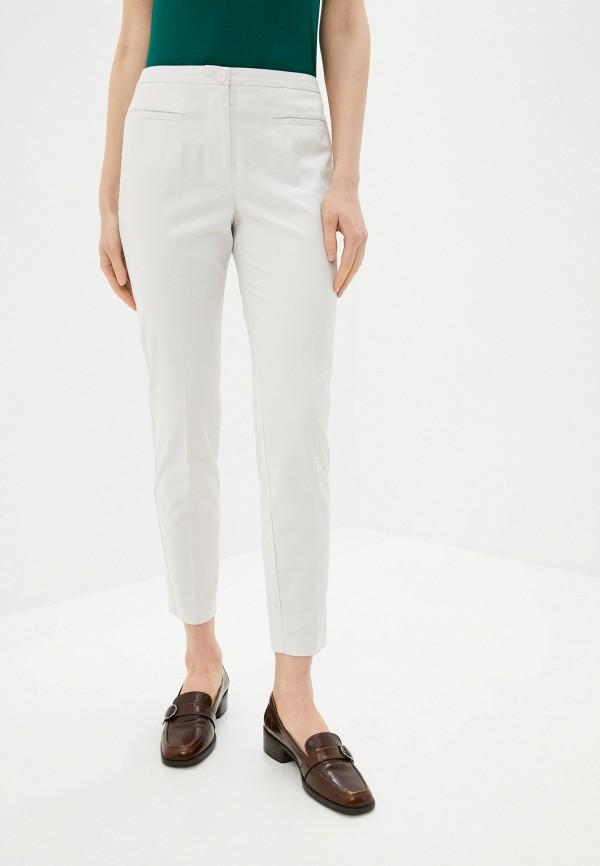 женские повседневные брюки stefanel, белые