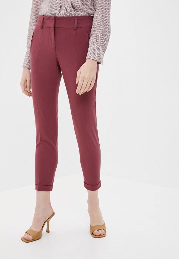 женские повседневные брюки stefanel, розовые