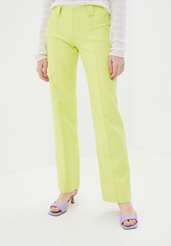 женские классические брюки stefanel, зеленые
