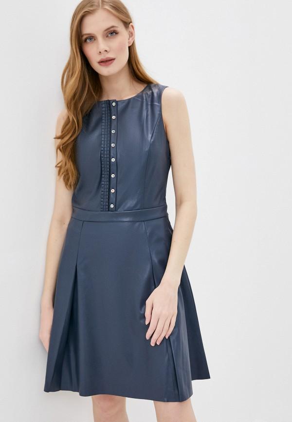 женское платье stefanel, синее