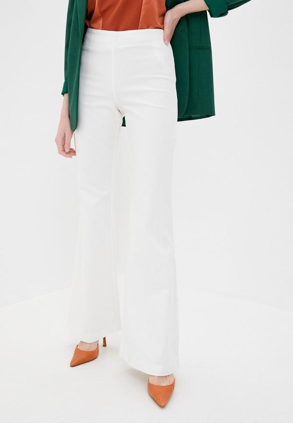 женские классические брюки stefanel, белые