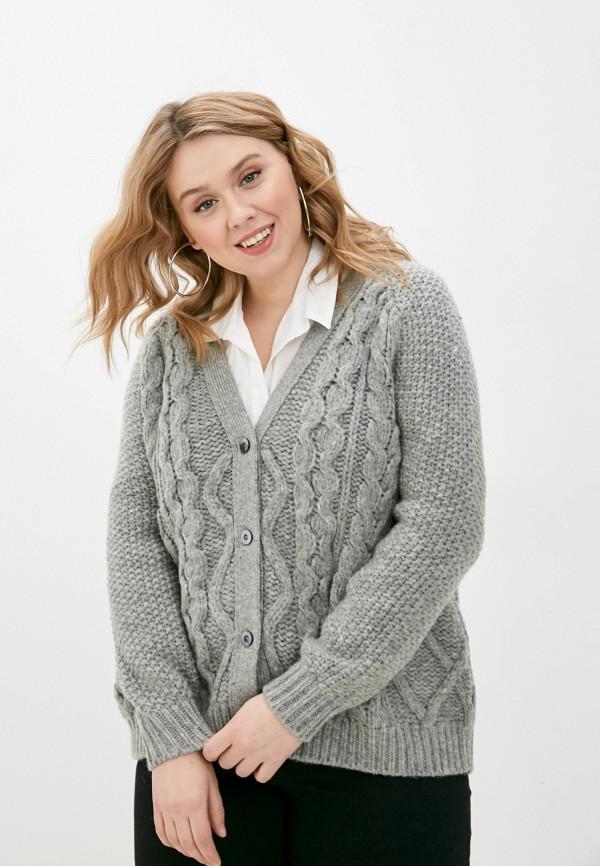 женский кардиган stefanel, серый